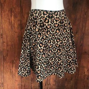 H&M Divided Cheetah Print Skater Skirt